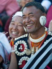 The atmosphere at the festival is full of fun and laughter. Nagas from the 1,000 villages that line the high hills of Nagaland come together to celebrate their distinct tribal culture.