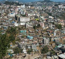 The hilly town of Mon is located in the far north of Nagaland, at an elevation of 898 metres above sea level, and offers sweeping views of the Naga hills. A densely populated town of approximately 16,590 residents (according to a 2011 census), Mon is home to Nagas from two distinct tribes: the Aos and the Konyaks.